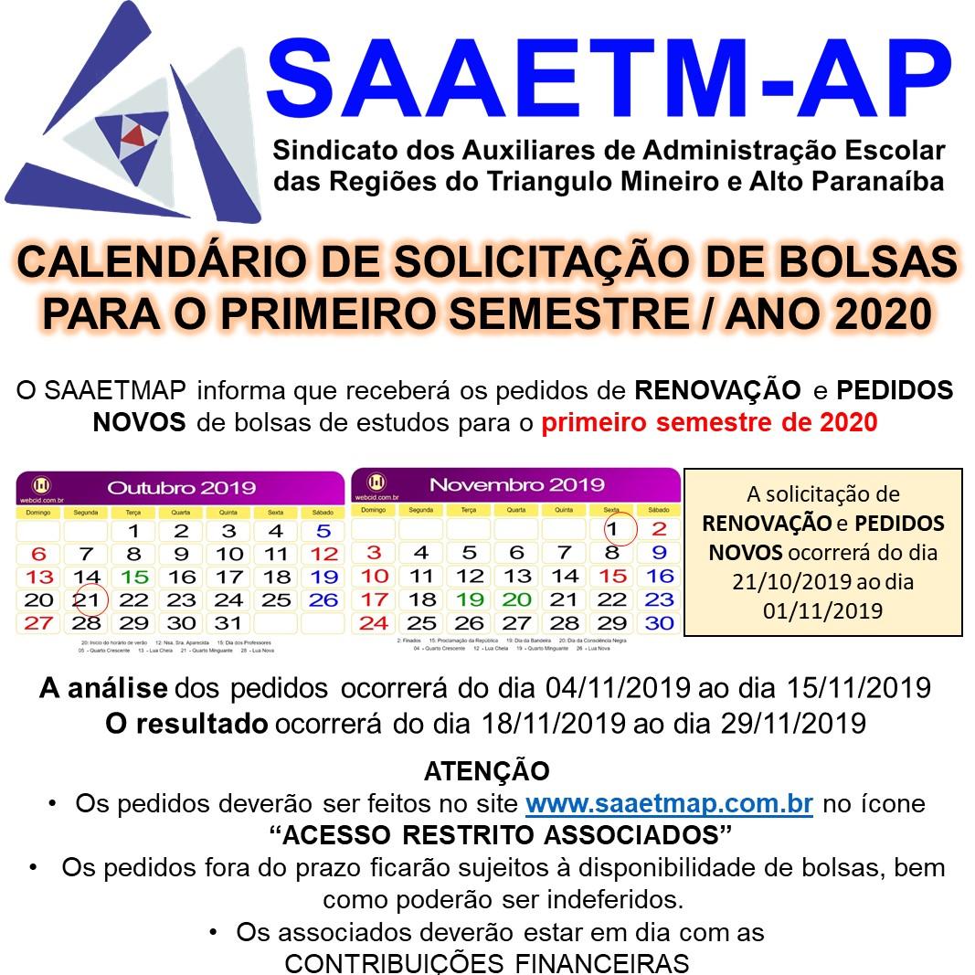 Bolsa Estudos 1° Semestre 2020